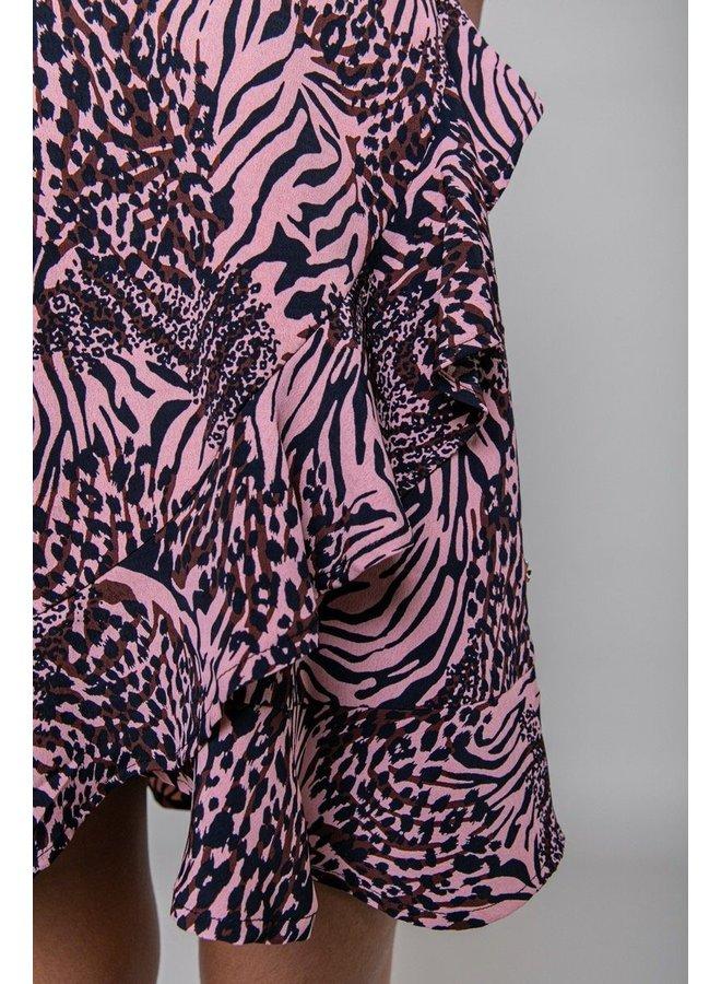 Jurk - Telsi Zebra Shortsleave / Pink