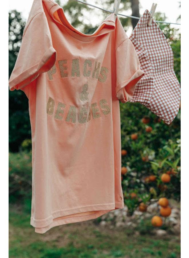 T-Shirt - Peaches&Beaches - Lurex / Orange