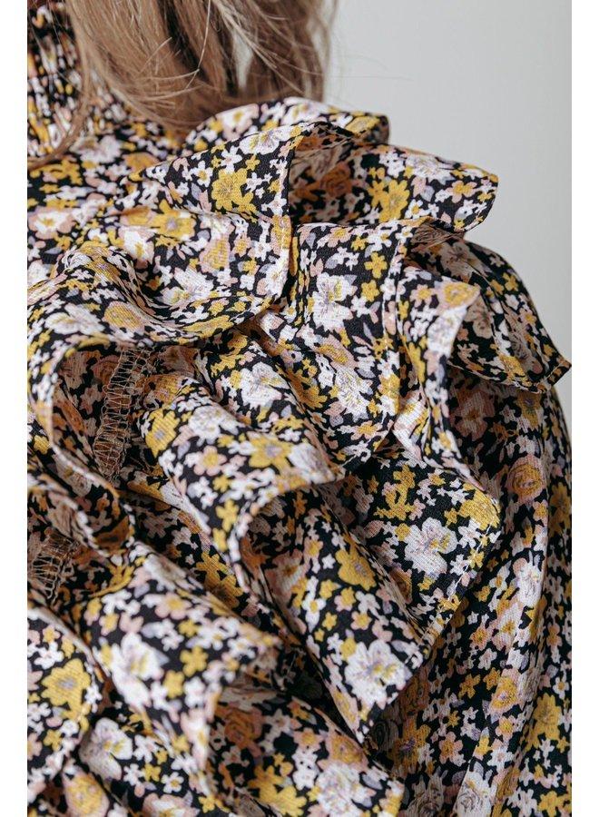 Blouse - Bina Flower Ruffle / Yellow