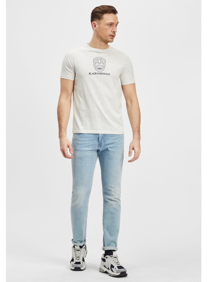 T-Shirt-puros/ecru melange