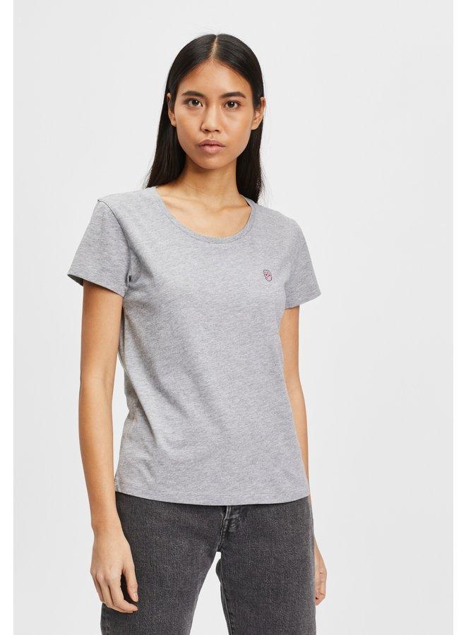 T-Shirt-vourtana-grey melange