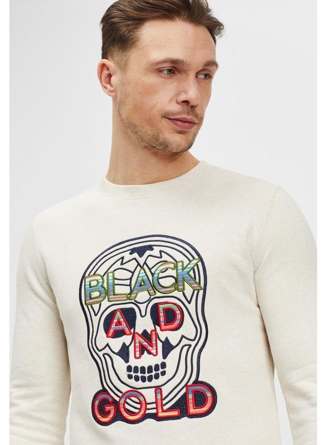 Sweater-craneo mexico/ecru melange