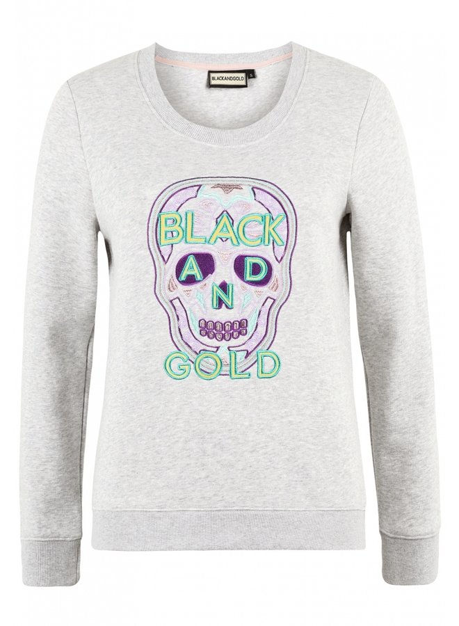 Sweater-Cranellina-Grey Melange