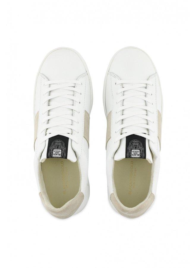 Sneakers-Elzapato zonder skull/ White ecru