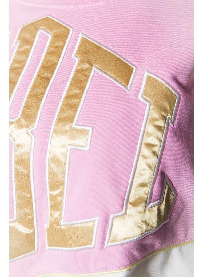 Sweater - Rebel Dropped Shoulder - Light Bright Pink
