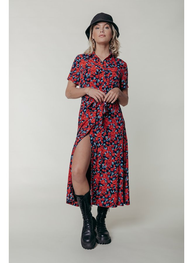 Jurk - Dalia Roses Maxi / Red