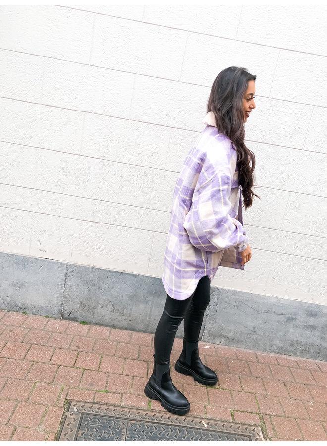 Jas - Tess Check Oversized / Lilac