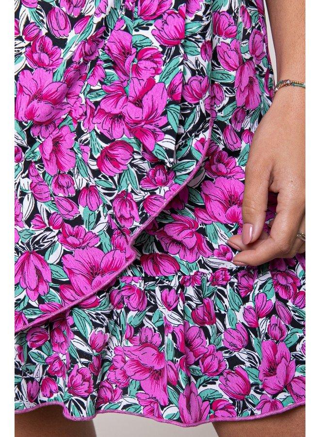 Shelby Flower Mini Wrap Skirt Women Pink M