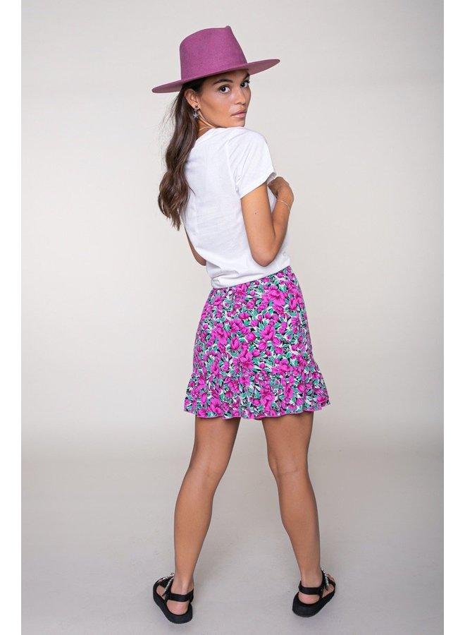 Shelby Flower Mini Wrap Skirt Women Pink XS