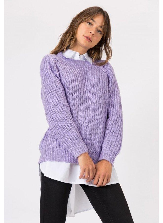 Sweater - Ceylon / lila
