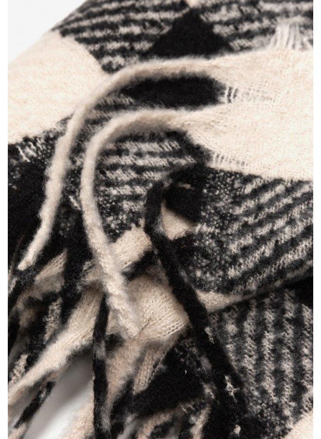 Sjaal - Carol / Black & White