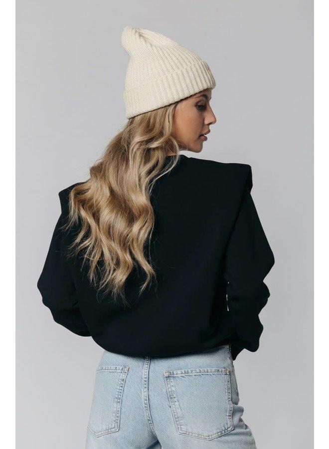 Sweater - Desert Muse Padded Shoulder / Black