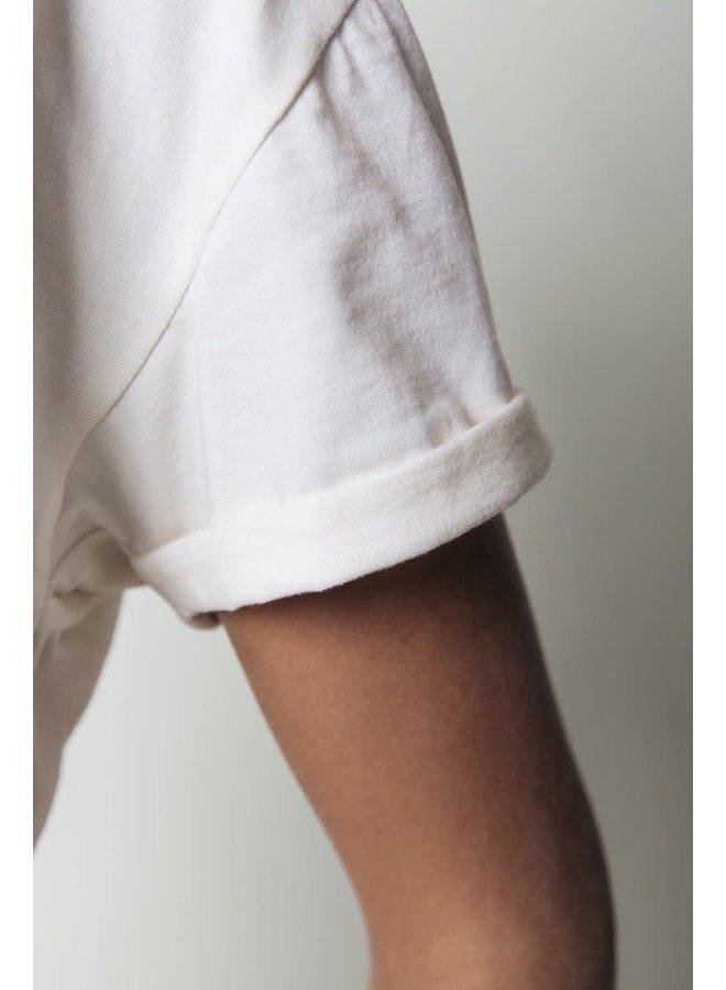 T- Shirt - Stargaze Glitter Boxy Tee / Off White