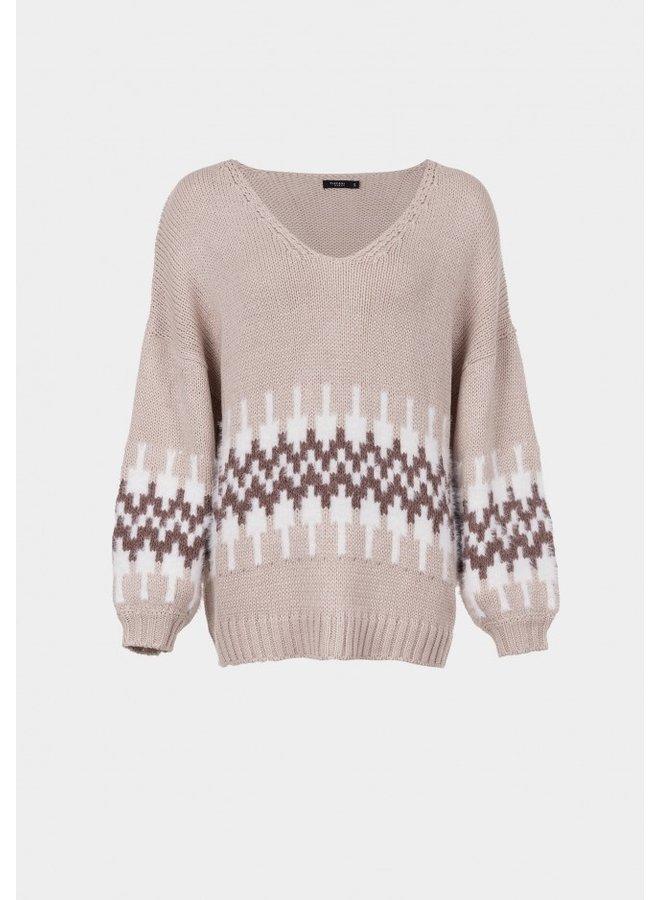 Sweater - Clove N-Neck / Beige