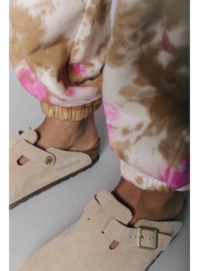 Broek - Tie Dye Loose Fit Jogger / Medium Pink