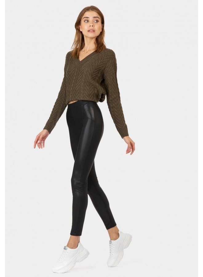 Legging - Leather Look - Fani / Black
