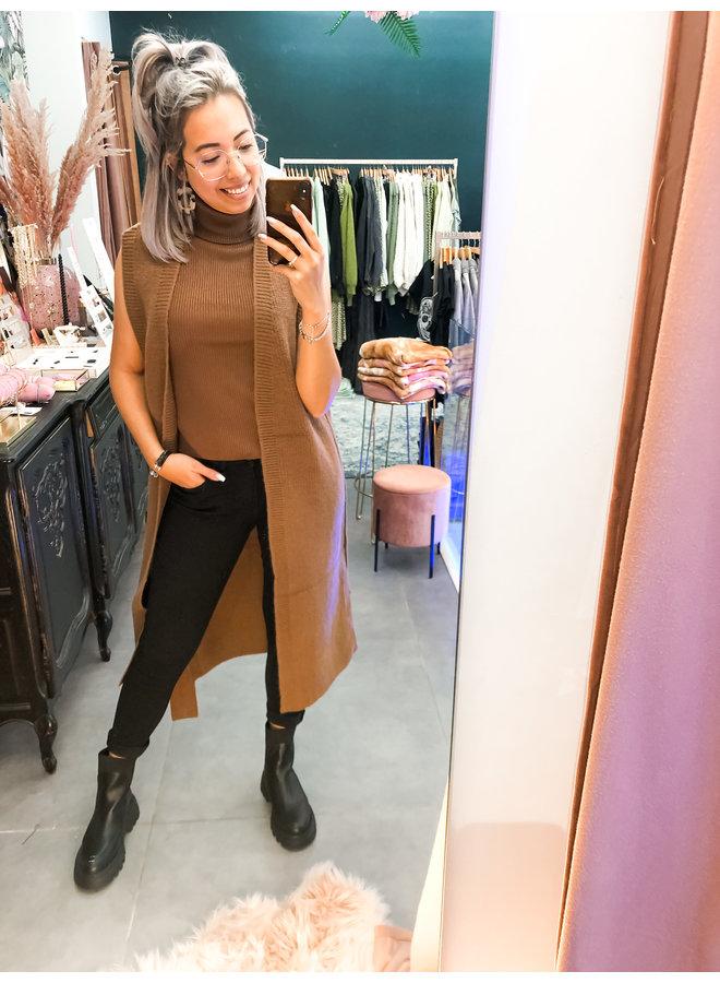 Vest - Olivia Cardigan / Bruin