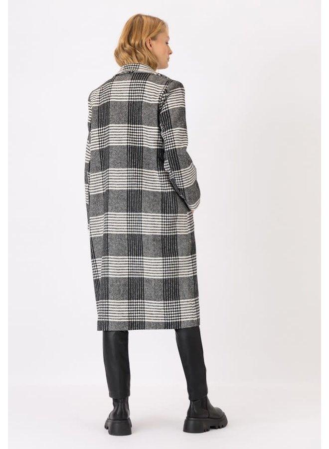 Jas - Long Jacket Paper / Black - White