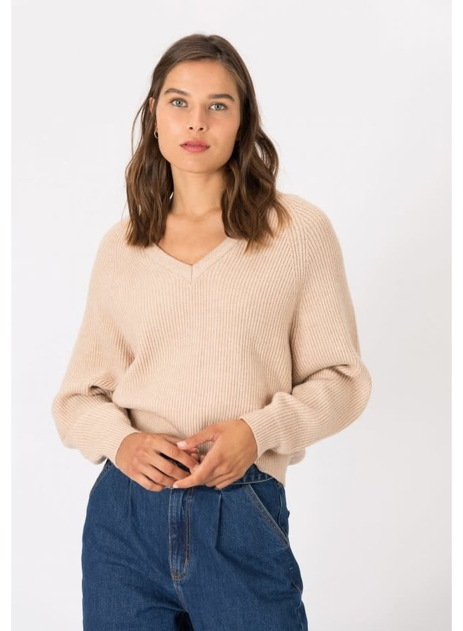 Sweater - Waves / Beige - Bruin