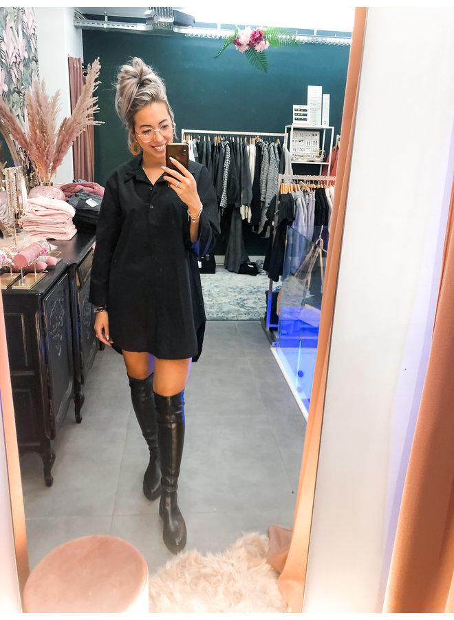jurk - Hemdsjurk Celine - Black