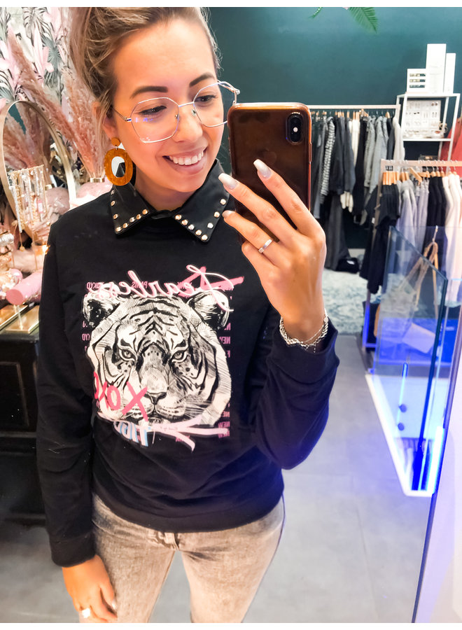 Sweater - Faerless Tiger / Black