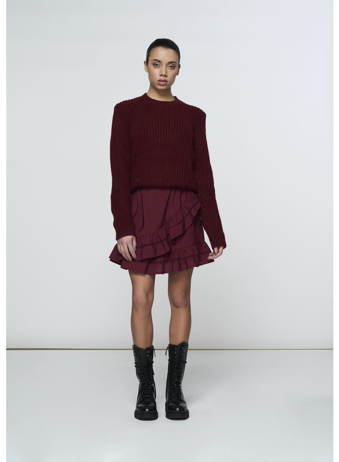 Sweater - Sandy / Bordeaux