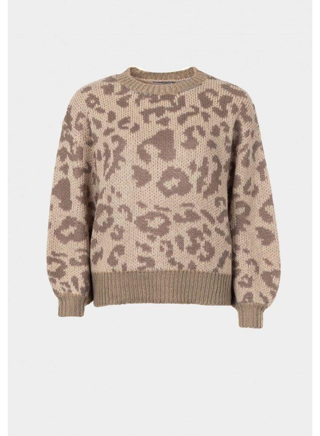 Sweater - Meadow / Brown Leopard