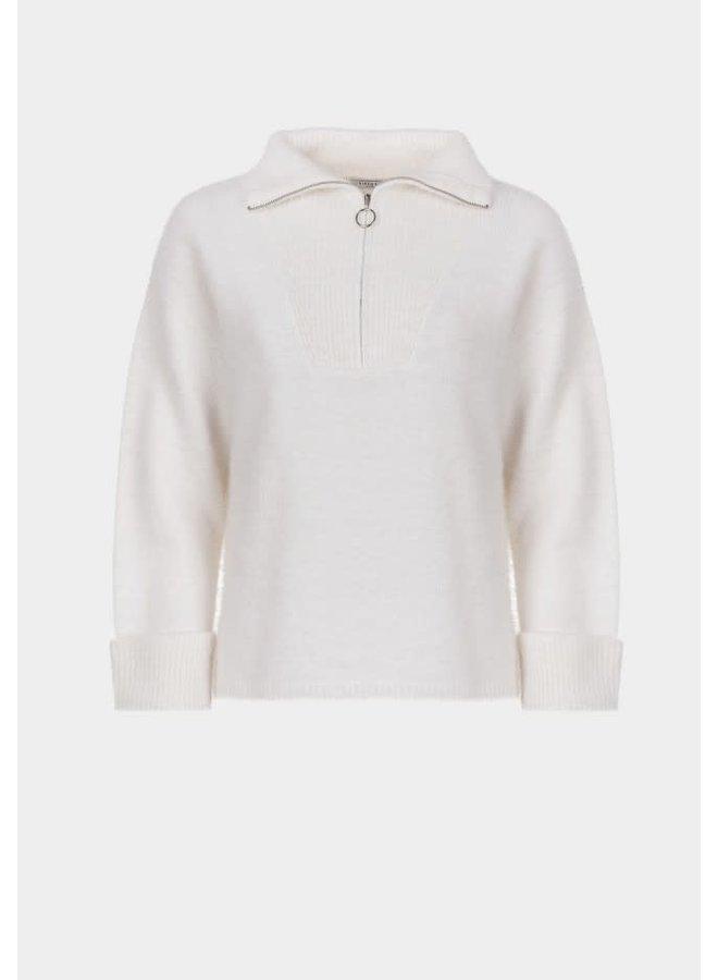 Sweater - Fruty Zipper  / Offwhite