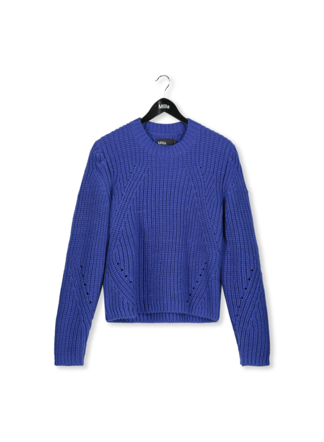Sweater - Sandy / Royal Blue