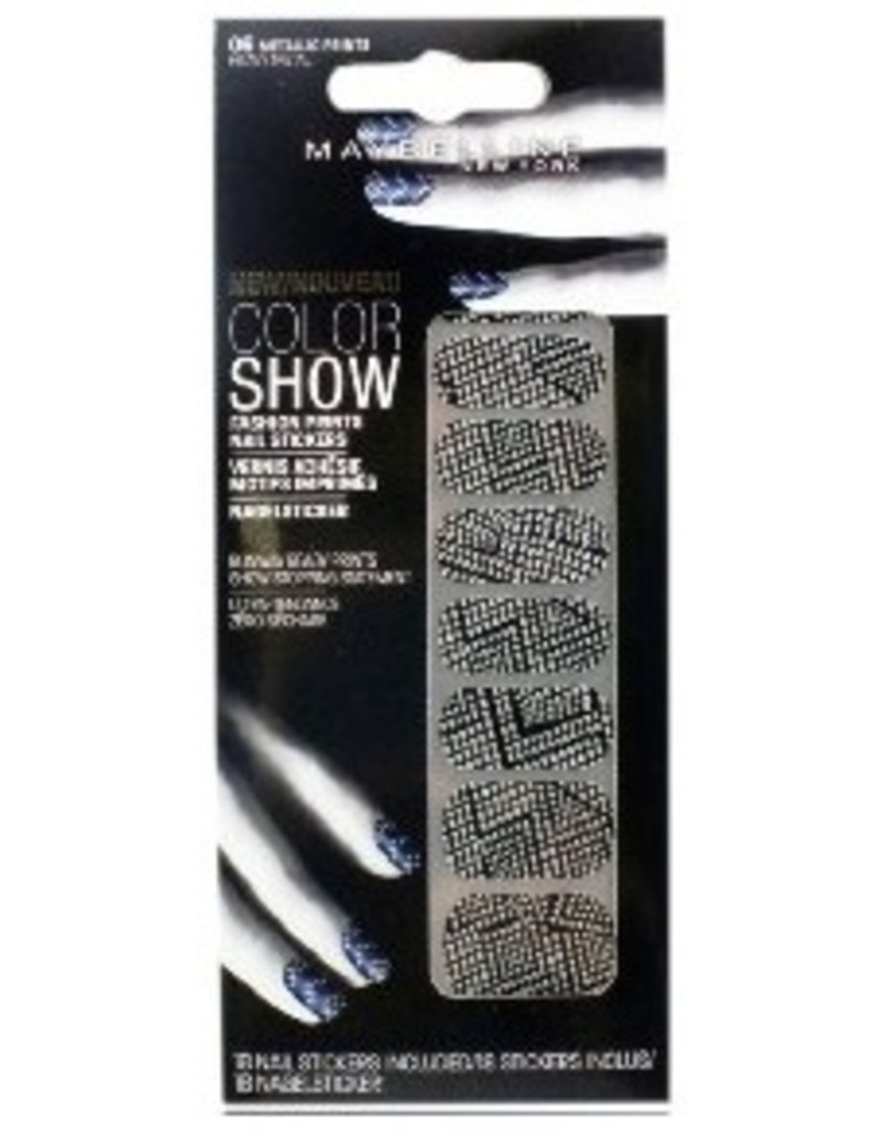 Maybelline Maybelline - Color Show Fashion Nail Stickers - 06 Heavy Metal