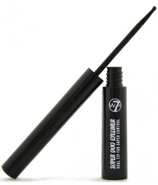 W7  W7 - Super Duo Eyeliner - Blackest Black