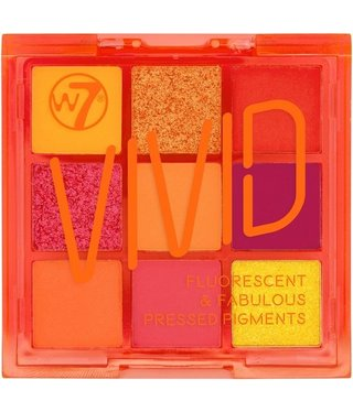 W7  W7 - Vivid Pressed Eyeshadow Palette - Outrageous Orange