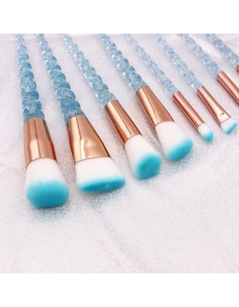 Beautyinstyle Beau - Unicorn Brush Set - Blue