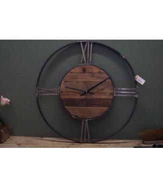 Vinci klok oud hout