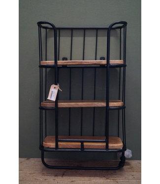 *B705 - wallshelve 3-laag black