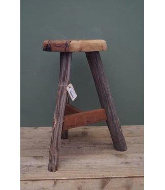 B609 - Stool raw wood D28 H53cm