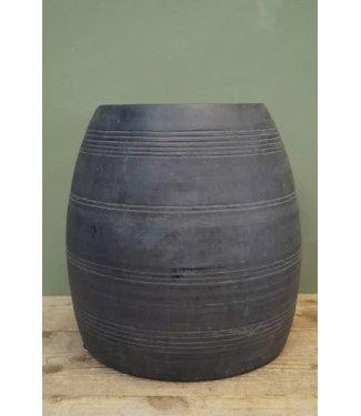 B582 - Houten pot grey wash