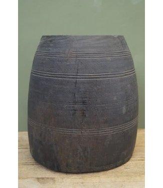 # B581 - Houten pot grey wash