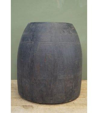 # B580 - Houten pot grey wash
