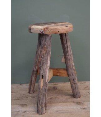 B500 - Stool raw wood D28 H53cm