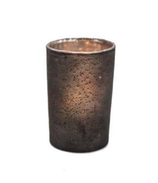 *Q695 - glass votive L - 6x6x9cm