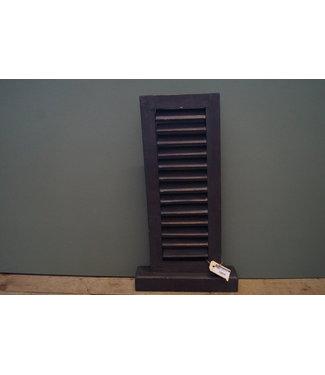 *Louvreluik op voet - grijs - S