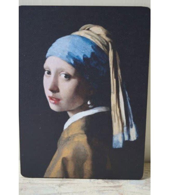 # W211 - Afbeelding meisje parel kleur - 14 x 19 cm