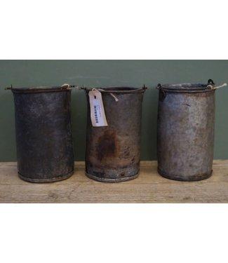 *B173 - Emmer zink - per stuk - ca. 14 x 12 x 19 cm