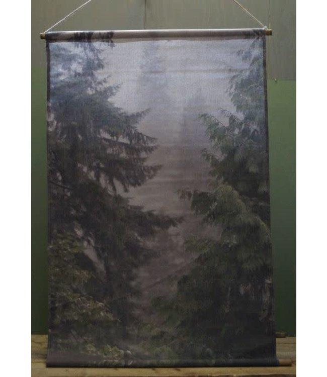 # B763 - muse wanddoek bomen 94 x 137