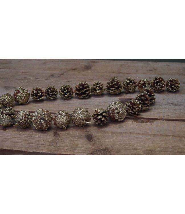 *B715 - garl. pinecone gold 120 cm