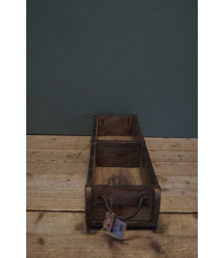 *Wooden 2-brick tray with handles