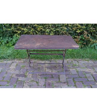 *Metalen theetafel - 80 x 60 x 53 cm