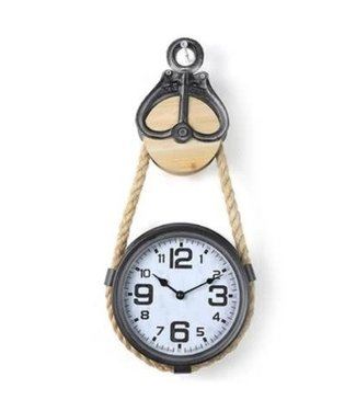 *J088 - Klok - Clock Parker S grey - L23B5H53CM