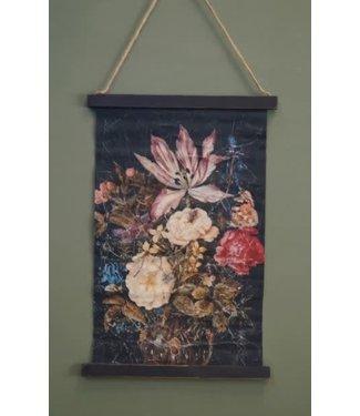 *B336 - Wandkleed - bloemen - 42 x 63 x 2 cm
